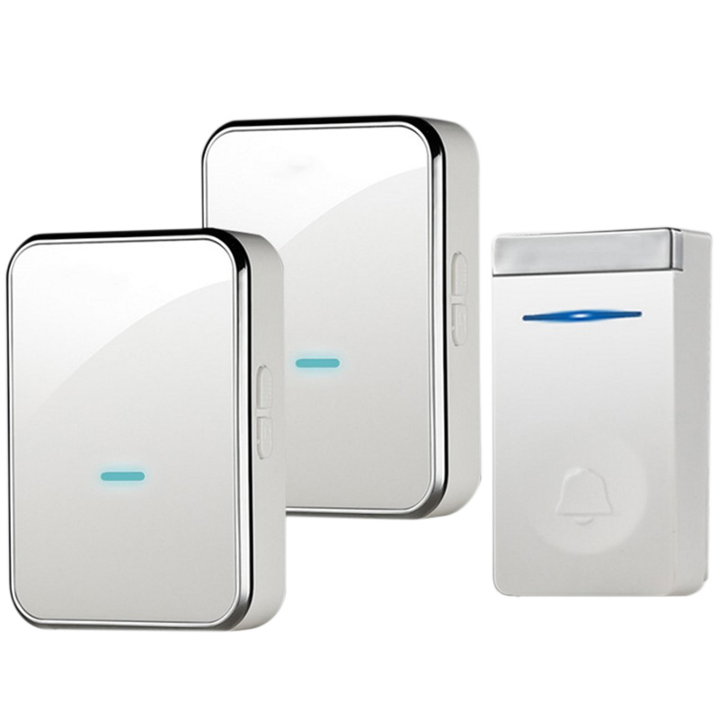 AMS-Eu Plug Self-Generating Doorbell Wireless Smart Doorbell Long Distance One For Two Waterproof Without Battery Door Ling