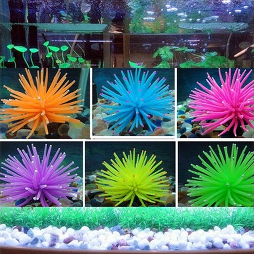 10Styles Soft Colorful Artificial Silicone Coral Fish Tank Aquarium Decoration Home Ornament