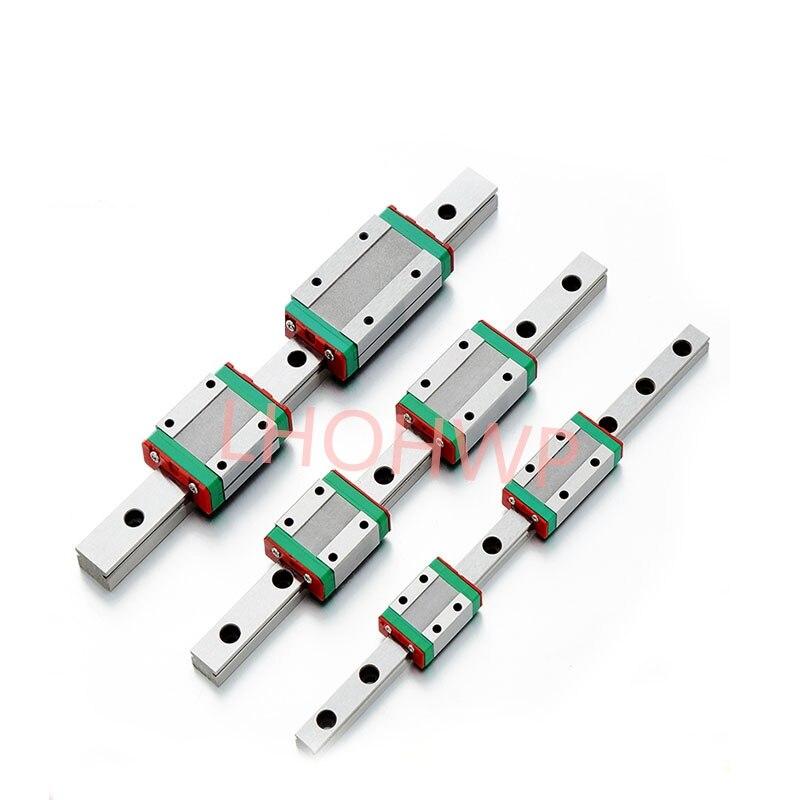 12 milímetros Guia Linear MGN12 100 150 200 250 300 350 400 450 500 milímetros bloco linear trilho + MGN12H ou MGN12C impressora 3d CNC