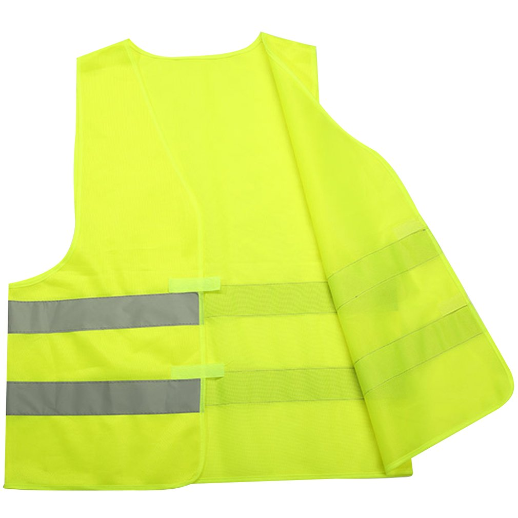Светоотражающий жилет, чтобы вы были заметны c флуоресцентными элементами, Безопасность жилет Жилетка с вентиляцией трафика в ночное время ...