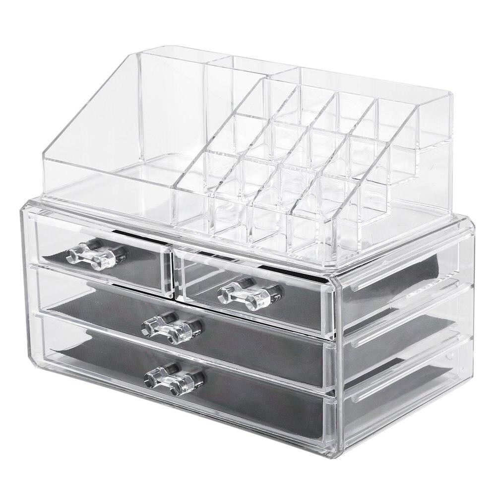 Large Capacity Makeup Box Large Transparent Acrylic Desktop Multi-drawer Cosmetic Storage Finishing Lipstick Stand