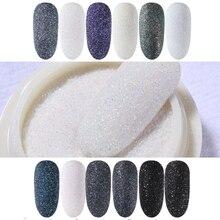 1 Box Nail Glitter Poeder Zwart Shining Suiker Sterrenlicht Effect Chrome Nail Powder Dust Laser Glitter Nail Art Decoratie Tips