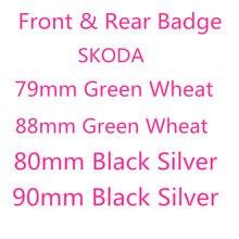 80 мм 90 мм эмблема капота передней головки автомобиля Логотип задний багажник задний бампер значок на багажник Наклейка для S-koda автостайлин...