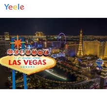 Yeele Welcome To Las Vegas Party Background City Street Backdrop for Photography for Photo Studio Photophone Custom Vinyl Banner las vegas casino city skyline night backdrop vinyl cloth high quality computer printed party photo studio background