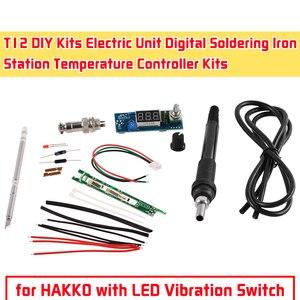 Kits de contrôleur de température de Station de fer à souder numérique d'unité électrique de Kits de DYI de STC-T12 avec le commutateur de Vibration de LED