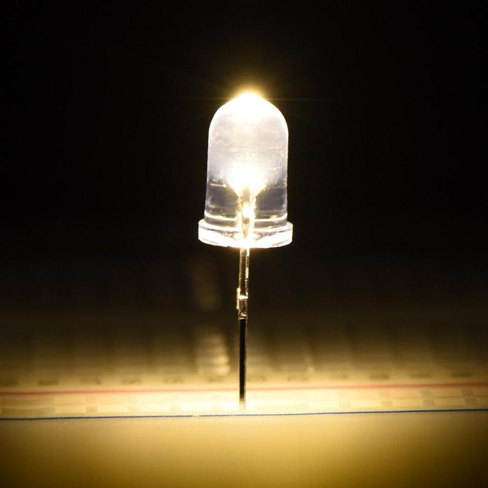 White 5 mm 100 Pieces Clear LED Light Emitting Diodes Bulb LED Lamp