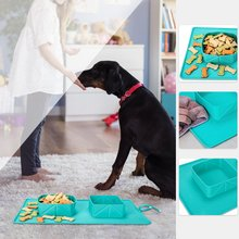 Portable Dog Double Bowl Puppy Food Water Feeder Collapsible Foldable Silicone Cats Dogs Container for Travel Camping