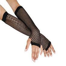 2021 Goth Punk mujer traje para baile y discoteca Fingerless encaje de malla guantes de rejilla protección de motocicleta negro barato al por mayor