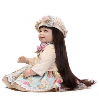 Limited Edition 22inch Baby Reborn Silicone And Realistic Reborn Baby Doll Silicone 55cm Infant Lower Price Kid Birthday Present warkings reborn