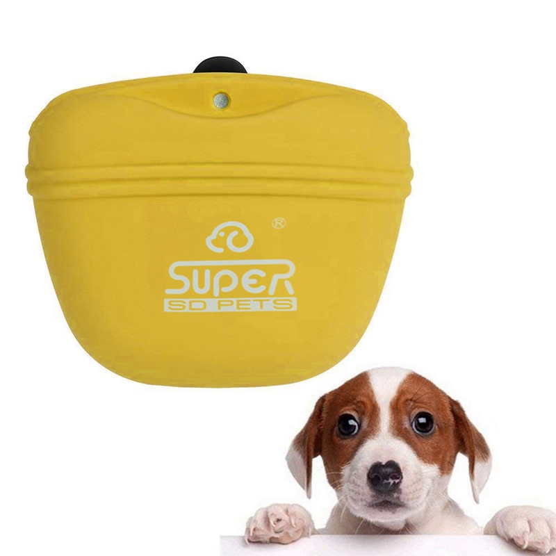 Outdoor Pet Training Pockets High-Quality Silicone Pet Snack Packs Dog Storage Pockets Pet Supplies(Yellow)