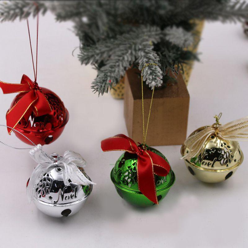 Орнаменты с рождественскими колокольчиками, рождественская елка, подвесное украшение, маленькие колокольчики, рождественские вечерние ук