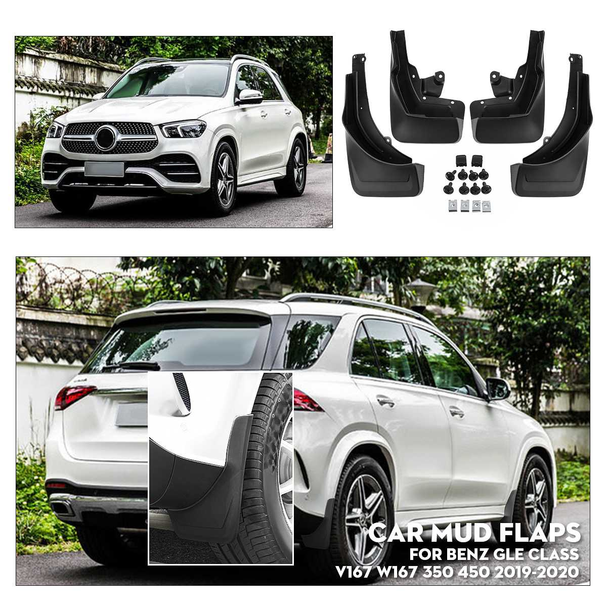 Car Mudflaps for Fender Mud Guard Splash Flap Mudguards For Mercedes/Benz GLE Class V167 W167 350 450 2019-2020