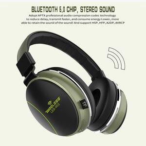 Image 5 - Беспроводная Bluetooth гарнитура LED 002, складные наушники, 3D стерео игровая гарнитура