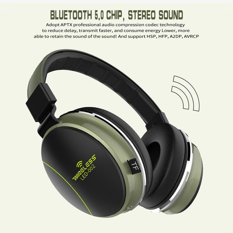 Image 5 - LED 002 Wireless Bluetooth Headset Folding Headphones 3D Stereo Gaming HeadsetBluetooth Earphones & Headphones   -