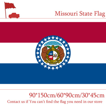 90*150cm 60*90cm 3X5FT Flag Of Missouri State 90x150cm Customized Pirate Banners 30*45cm Car Flag image