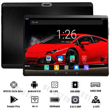 Super 2.5D Tempered Glass IPS 10 Inch Tablet PC 6GB RAM 64GB ROM Octa Core 3G 4G LTE FDD Dual Sim Cards Android 9.0 Tablets 10.1 - Category 🛒 Computer & Office