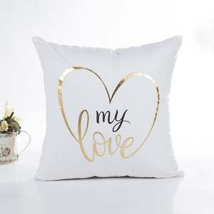 Pillows-Cover Linen Comfortable Home-Decorative Polyester Christmas-Series Bronzing