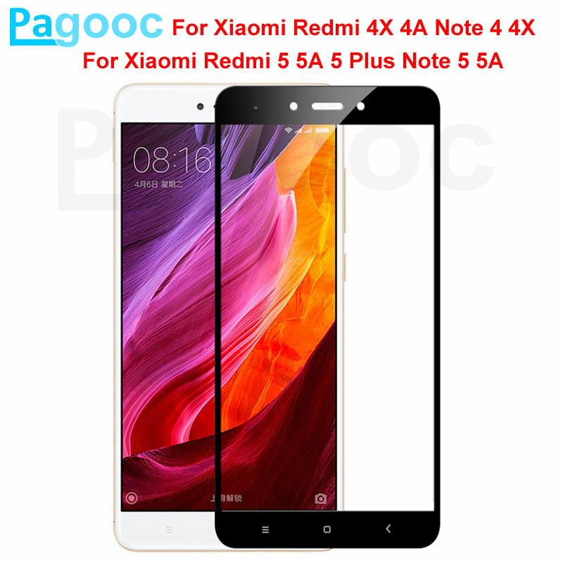 9D Protective Glass For Xiaomi Redmi Note 4 4X 5 5A Pro Redmi 5 Plus S2 4X 5A Tempered Screen Protector Glass Safety Film Case