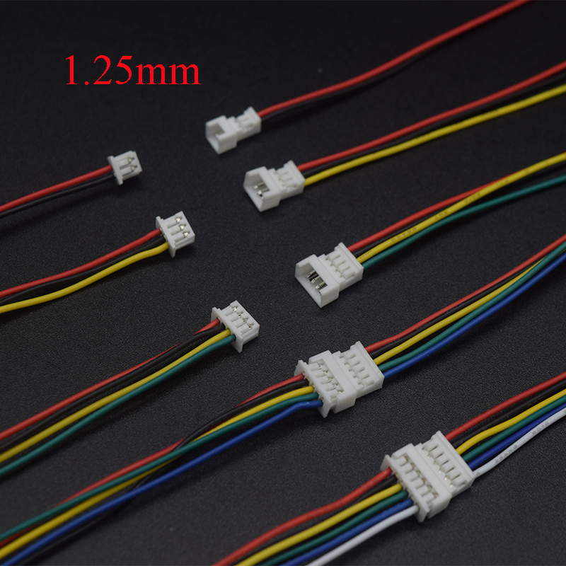 10Pair <font><b>Micro</b></font> <font><b>JST</b></font> <font><b>1.25MM</b></font> 2P/3P/4P/5p/6-Pin Male&Female Connector Plug with Wires Cables LED Strip Connectors image