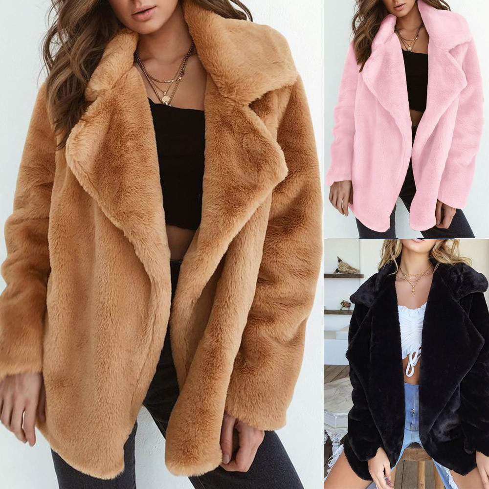 Faux Fur Coat Winter Coat Women Warm Furry Teddy Coat Fourrure Femme Futerko Pelliccia Donna Bontjas Abrigo De Pelo Sintetico