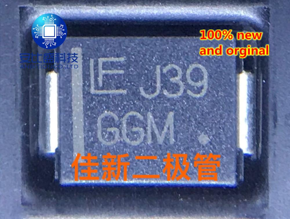 30pcs 100% New And Orginal 1SMC64AT3G  64V Unidirectional Car TVS Diode DO214AB Silkscreen GGM  In Stock