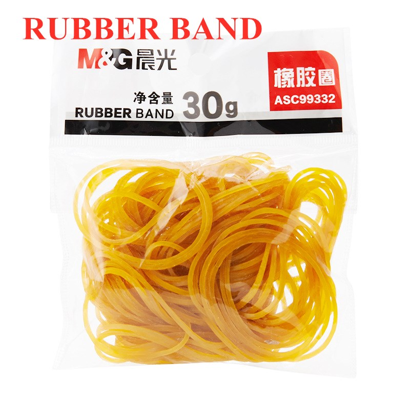 M&G Tube High Toughness High Strength Rubber Band 30g / Tube Repeated Stretching Not Easy To Break Office Supplies ASC99332