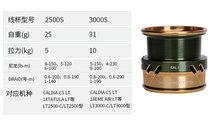 DAIWA CALDIA CS  LT shallow spool 2500S 3000S series Fishing reel spool
