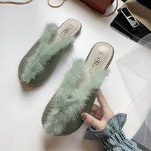 2019 new cross plush female slippers autumn winter flat bottom warm cotton pregnant women womens shoes
