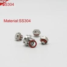 Vent-Plug Waterproof Screw Metal Stainless-Steel Breathable SS304 M16/M20 10pcs