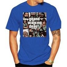 Camiseta 2021 homem homem andando morto gta rua luta gta 5 roupas meninos t manga curta