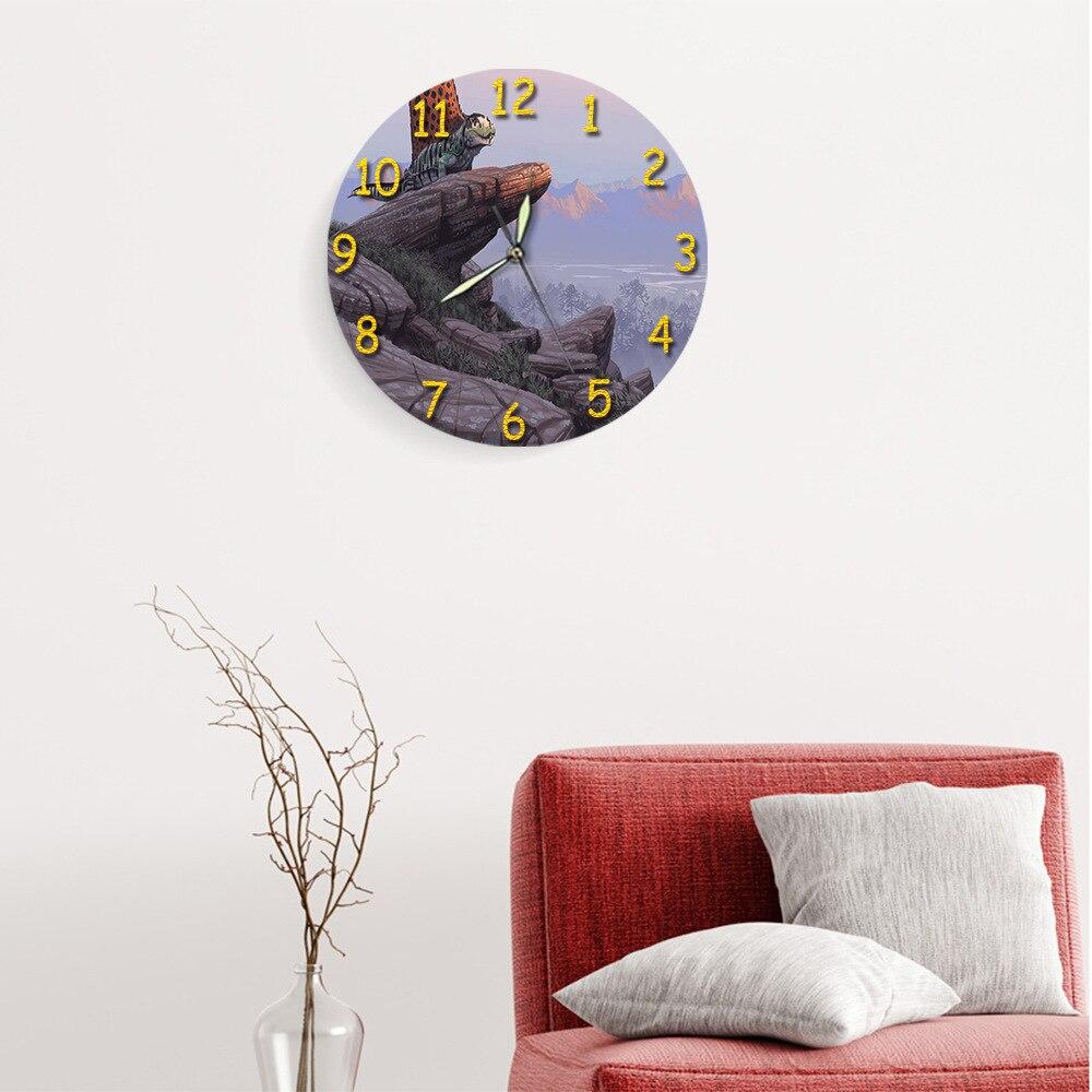 Vintage Kids Simple Digital Silent Wall Clock Modern Design Children Wall Clock  Vintage Zegar