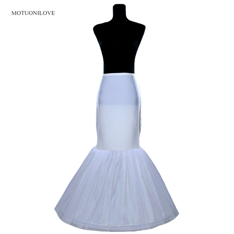 Wholesale Price 1 Hoop Bone Elastic Waist Petticoat For Bridal Mermaid Wedding Dress Crinoline Slip Underskirt In Stock Fast