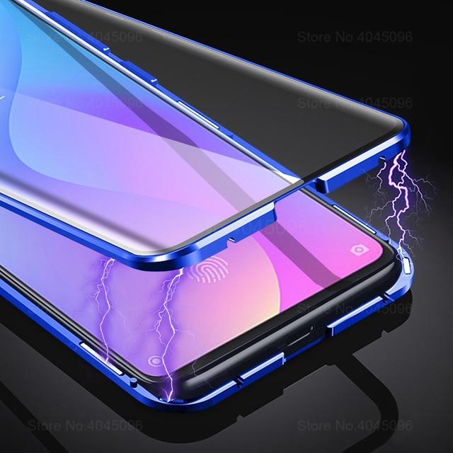 360 Magnetic Phone Case For xiaomi mi 9t Double Sided Glass Cases On Xaomi 9t pro mi 9t 9tpro t9 t9pro mi9t Metal Cases Coque 3