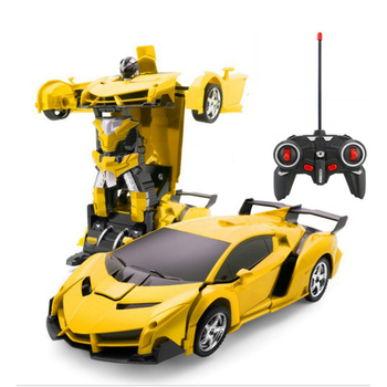Hipac 1:14 RC Car Police Transformation Robots Vehicle Model Robots Toys Deformation Remote Control Car Kids Toys Gifts For Boys
