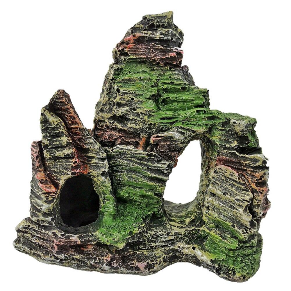 Аквариум, горный камень, Ландшафтная модель, каменная пещера, искусственное декоративное украшение, мост для дерева, аквариум
