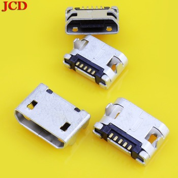 JCD 5Pin Micro USB 5pin DIP Female connector for mobile phone Mini USB jack PCB welding socket FLAT MOUTH Micro USB 5 pin jack image