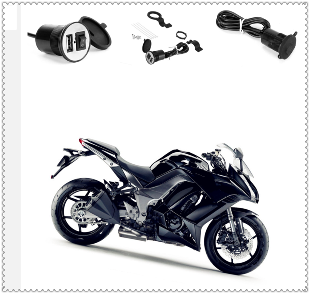 Motorcycle Modified USB Mobile Phone Charger With Switch Waterproof For Buell 1125CR 1125R M2 Cyclone S1 Lightning Ulysses