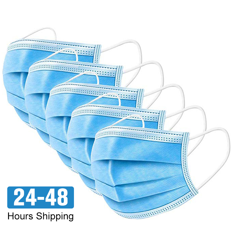 10-100 Pcs Non-woven Protective Disposable Anti Dust Fog For Mouth Masks Activated Carbon Filter Windproof For Face Masks PM 2.5