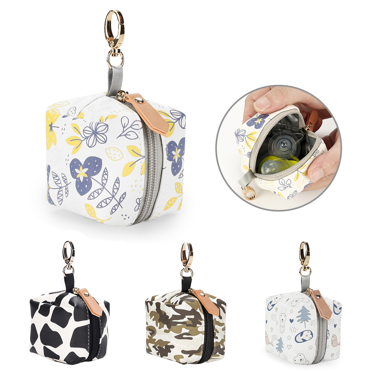 525.0¥ 20% OFF|Pacifier Porter Protective and Clean Pacifier Case Holds 2+ Pacifiers|Nipple Storage...