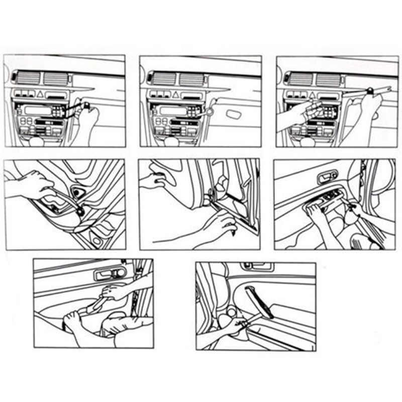 Chất Lượng Cao 4 Cái/bộ Xe Ô Tô Tự Động Phát Thanh Bảng Điều Khiển Cửa Kẹp Bảng Viền Dash Âm Thanh Loại Bỏ Bộ Sửa Chữa Tay Buồng Lái Bật Nắp dụng Cụ Phụ Kiện
