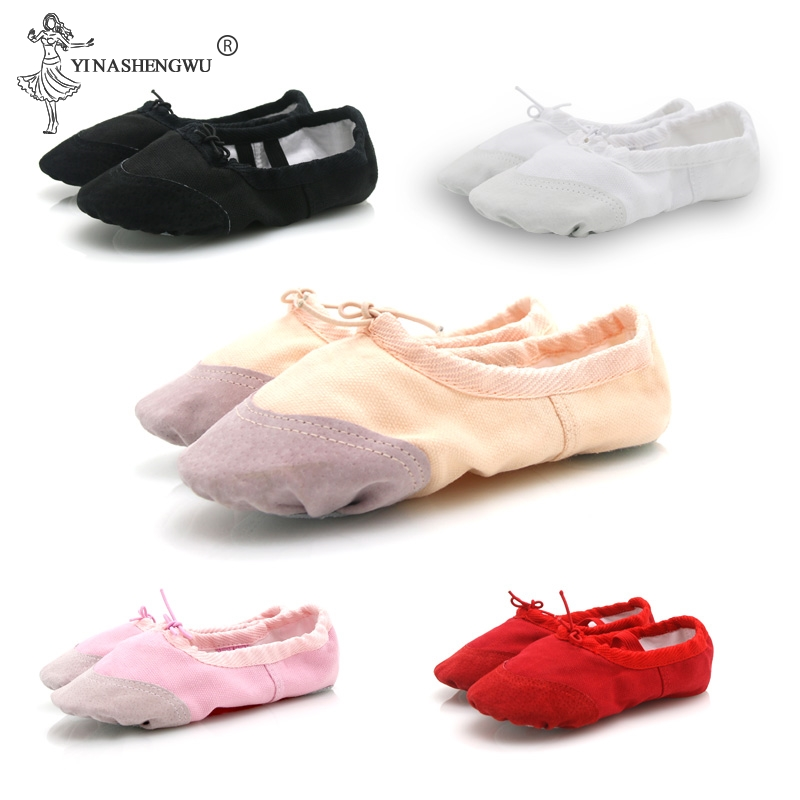 Girls Kids Pointe Shoes Dance Slippers High Quality Ballerina Practice Shoe For Ballet 5 Color Ballet Dancer Professional Shoe