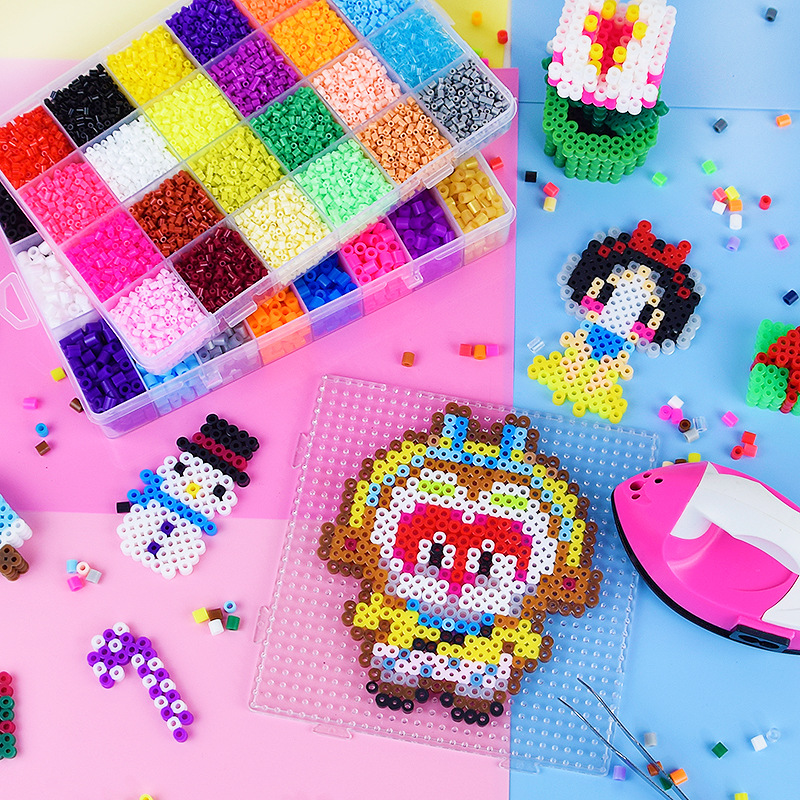 Perler Toy Kit 5mm/2.6mm Hama beads 3D Puzzle DIY Toy Kids Creative Handmade Craft Toy Gift 72 colors 39000pcs(China)