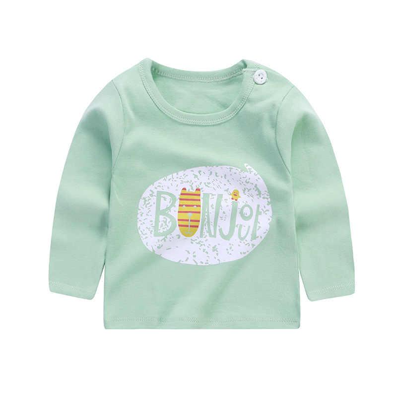 19 nueva ropa de bebé niños moda Casual Camiseta de manga larga algodón Niños Niñas Ropa de impresión