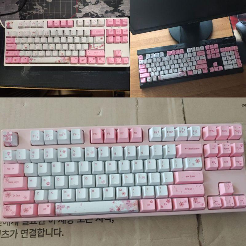 Cherry Blossom Keycap Teclado Mecânico Keycaps Corante-sublimação Oem Pbt Mod. 1269242