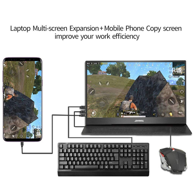 """Touch screen HD Gaming Portable Monitor 15.6"""" 2Type C(USB-C) laptop PS4 5"""
