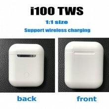 i100 TWS настоящий 1:1 размер Bluetooth 5,0 гарнитура 6D бас сенсорное управление беспроводные наушники PK i200 i10 i60 i80 i90 i20 tws