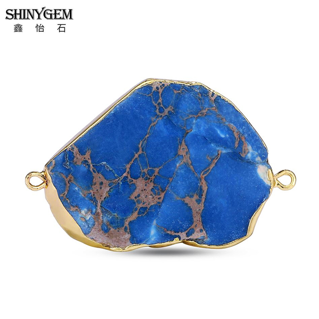 Shinygem случайный 20 40 мм нерегулярные jaspers камень соединитель