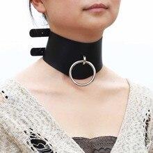 New Style Punk O-ring Locking Posture O Ring Collar Restraint Head Harness BDSM