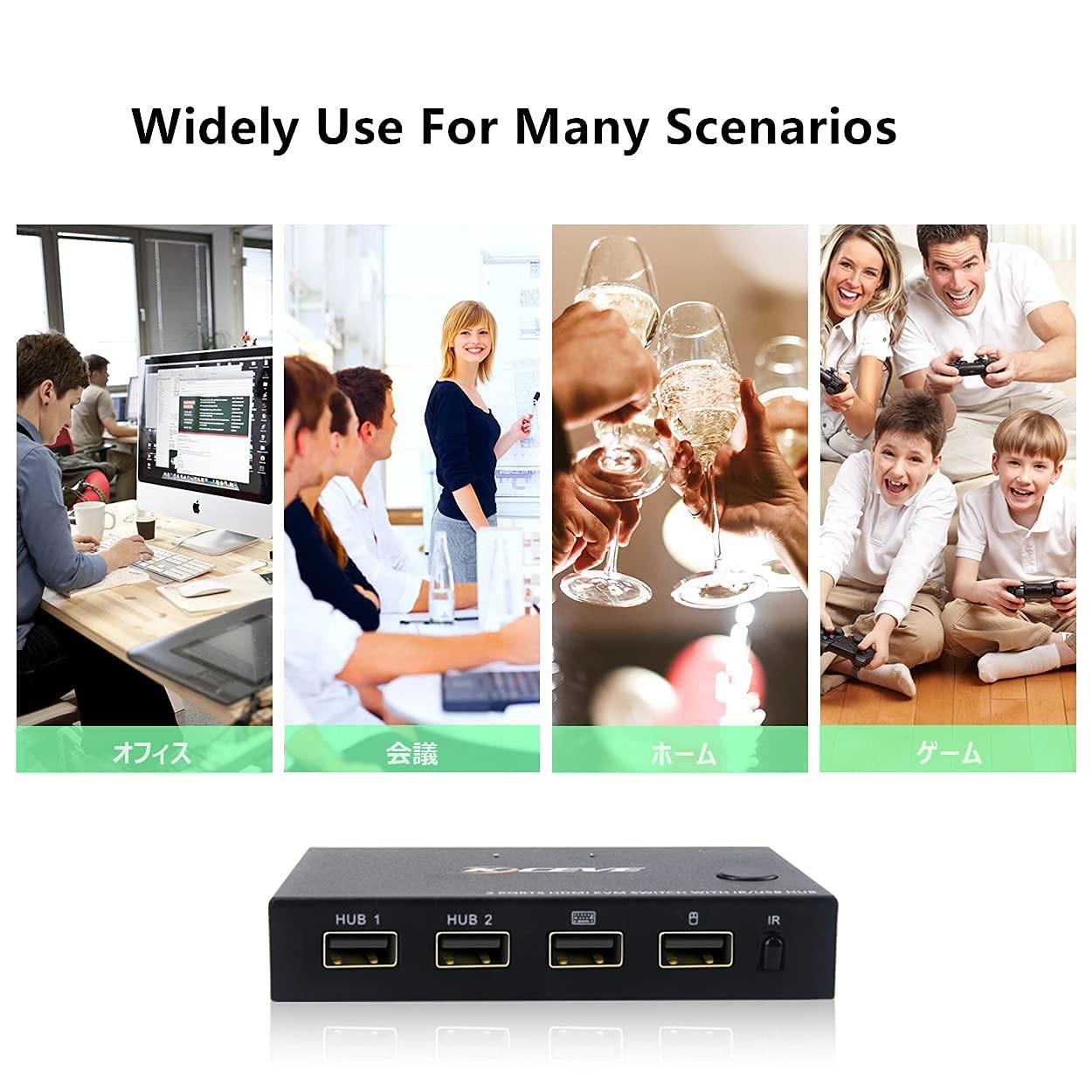 para fora usb kvm switcher teclado mouse
