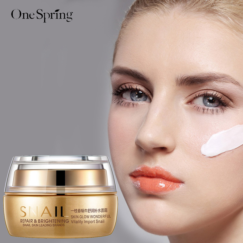 Snail Moisturizing Face Cream Remove Age Spot Scar Pigment Whitening Anti Wrinkle Cream Beauty Miracle Glow Day & Night Cream bioaqua exfoliante para pies